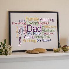 personalised word cloud print by oakdene designs | notonthehighstreet.com