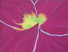 Acrylic Painting- Red Lily. $100.00, via Etsy.