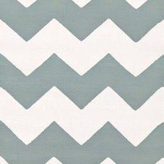 Dash & Albert Indoor/Outdoor Teppich Chevron Light Blue White