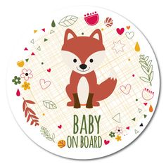 Baby on Board sticker / Bébé à bord autocollant par BBabyOnBoard