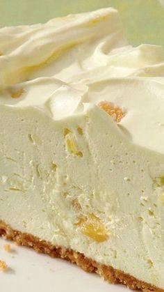 No-Bake Pineapple Cheesecake ~ so creamy! No-Bake Pineapple Cheesecake ~ so creamy! Pineapple Cheesecake, Baked Pineapple, Pineapple Desserts, Pineapple Recipes, Pineapple Pie, Crushed Pineapple, Strawberry Desserts, 13 Desserts, Delicious Desserts