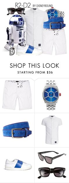 """""""R2-D2"""" by leslieakay ❤ liked on Polyvore featuring River Island, Nixon, Bergè, Superdry, R2, Valentino, Gucci, men's fashion, menswear and disney"""