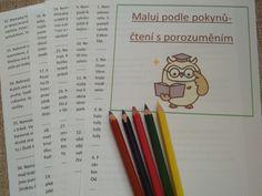 Produkt - Maluj podle pokynů-čtení s porozuměním Bullet Journal, School, Poem