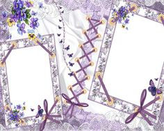 Purple Frame with Ribbon | png file – 300dpi – high resolution