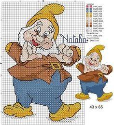 Snow White: Happy | Disney puntocroce /cross stitch / punto de cruz | Pinterest | Snow White 2, Snow White and 7 Dwarfs