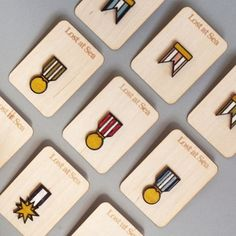 Ribbon Medal Badges