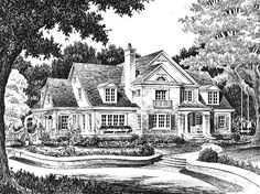 Country House Plan with 4177 Square Feet and 4 Bedrooms(s) from Dream Home Source | House Plan Code DHSW56055