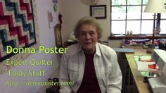 """Quilting Techniques: """"Foldy Stuff"""" with Donna Poster"""
