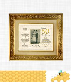 50th Anniversary Gift for Parents, Golden Anniversary Custom Design - Personalized Keepsake With Photo - Printable#50th #anniversary #custom #design #gift #golden #keepsake #parents #personalized #photo #printable Golden Anniversary Gifts, Anniversary Gifts For Parents, Anniversary Dates, Anniversary Photos, Wedding Anniversary, Parent Gifts, Party Accessories, Custom Design, Prints