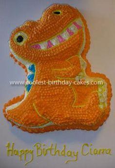 Dinosaur cake ~Buddy? Now to find a dinosaur cake pan.