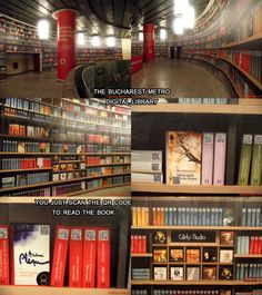 Metro library in Bucharest. Scan The QR code to read the book!