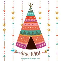 Background of arrows and boho tent Free Vector Feliz Diwali, Indiana, Design Plat, Baby Room Art, Ethnic Patterns, Watercolor Background, Vector Background, Boho Gypsy, Bohemian