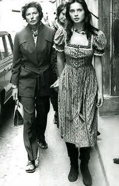 Mother & Daughter  Ingrid Bergman and Isabella Rosselini