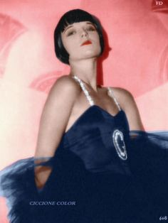 Louise Brooks color promo 1927 Now We're In The Air