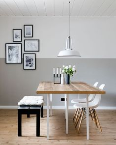 What a gorgeous dining room! Menu Bottle Grinders available online at WWE.istome.co.uk Image @dreierleiliebelei #diningroom