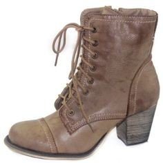Modesta Tobe-04 Leatherette Thick Wooden heel Booties,$47.99