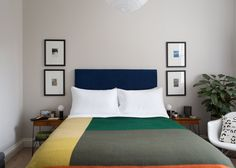 """The flat's color palette is a favorite element. """"It's vivid and bold in places, balanced with neutral tones, and hangs together to make the different spaces coherent and feel much bigger as a whole."""""""