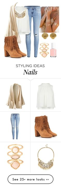 """""""Untitled #366"""" by lovedestiel on Polyvore featuring Lulu DK, H&M, Sole Society, Aquazzura, Accessorize and Essie"""