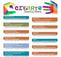Queda una semana para Halloween y en #TamayoPapeleria hemos preparado un taller divertidisimo de MAQUILLAJE para HALLOWEEN el próximo Sabado dia 28 de Octubre.  Y además os adelantamos los cursos y talleres que tenemos programados para NOVIEMBRE;  PINTURA EN TELA Jueves 2 Nov. - Tarde 17:00 - 19:00 25 (23 con tarjeta TAMAYO) --- ACUARELA Viernes 3 17 24 Nov. y 1 Dic. (curso de 4 días) Tarde 17:00 - 19:00 52 (50 con tarjeta TAMAYO) --- DECORACIÓN EN PAPEL Sábado 4 Nov. - Mañana 11:00 - 13:00…