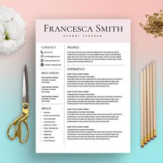 12 professional ms word resume template for best price, resume template, resume template with matching cover letter, teacher resume template Teacher Resume Template, Modern Resume Template, Resume Template Free, Teacher Resumes, Templates Free, Design Templates, Blogger Templates, Cover Letter Teacher, Free Cover Letter