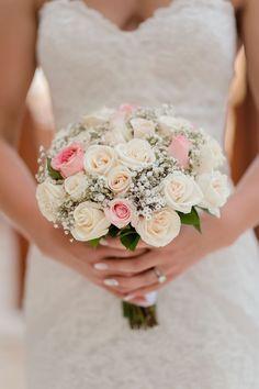 Rebecca's beautiful and very elegant wedding bouquet - - Hochzeit Bridal Flowers, Flower Bouquet Wedding, Floral Wedding, Gypsophila Bridesmaid Bouquet, Bride Bouquets, Elegant Wedding, Dream Wedding, Wedding Day, Wedding Themes