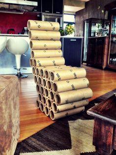 Cardboard roll chair by Melissa Salas (Costa Rica)