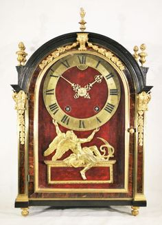 Louis XIV pendulum clock signed Panier Paris.