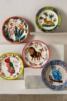Francophile Dinner Plate - anthropologie.com  Grouping for wall hanging