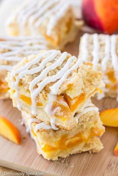 Peaches and Cream Bars Easy Dessert Recipe