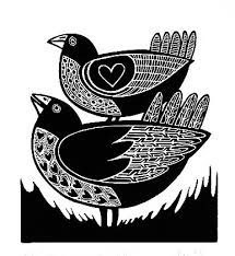 Image result for linocut baby chick