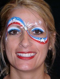 red white blue face paint - Google Search