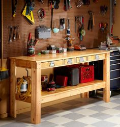 Simple Workbench Plans - Step by Step | The Family Handyman