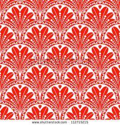 Vintage seamless pattern. EPS-8, endless floral ornament in asian vintage style. Original author's design, hand-drawn. by Gataki, via Shutte...