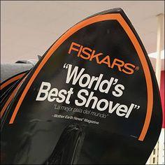 Fiskars Worlds-Best-Shovel Utility Hook Mother Earth News, Store Fixtures, Merchandising Displays, Vintage Lighting, Shovel, Hooks, Target, Arm, Retail