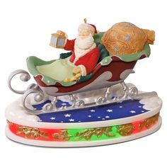 """Santa Takes Flight""  #6 in the Once Upon A Christmas Series.  Hallmark Keepsake Ornament, 2016."