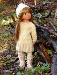 HandKnit-Cabled-Sweater-Dress-amp-Hat-for-Gotz-HappyKidz-dolls-by-Debonair-Designs
