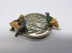 Little people scene: old people taking pensions for granted