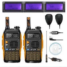 2pcs Baofeng GT-3TP MarkIII VHF/UHF Dual Band FM Ham Walkie Talkie Two-way Radio Transceiver with Speaker Programming Cable  Price: 125.00 & FREE Shipping #computers #shopping #electronics #home #gadgets #LED #remotecontrol #security #toys #bargain #coolstuff #headphones #bluetooth #gifts #xmas #happybirthday #fun