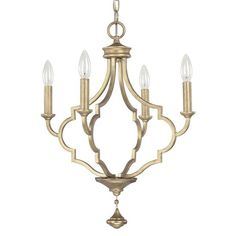 Capital Lighting Quinn Collection 4-light Brushed Gold Tone Chandelier