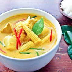 INGREDIENTS 1 14-ounce can of coconut milk 2 tablespoons yellow curry paste 1 large chicken breast 1-2 cups water 2 medium sweet potatoes 1/2 of a large onion 1 cup of baby carrots 1 teaspoon fish sauce