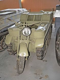 The SdKfz 2, better known as the Kleines Kettenkraftrad HK 101 or Kettenkrad for short (Ketten = tracks, krad = military abbreviation of the German word Kraftrad, the administrative German term for motorcycle), started its life as a light tractor for airborne troops. The vehicle was designed to be delivered by Junkers JU 52 aircraft, though not by parachute. The vehicle had the advantage of being the only gun tractor small enough to fit inside the hold of the JU 52...