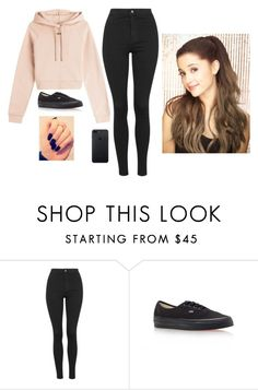"""."" by biebsmahoneari5sos ❤ liked on Polyvore featuring Topshop and Vans"