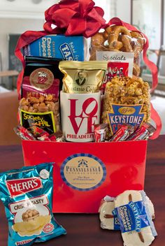 Philly Flavors Gift Basket! #FathersDay (includes a LOVE mug for Dad's coffee!