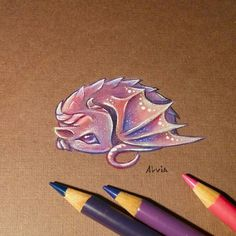 Drawings by Alvia Alcedo - Baby Dragon. drawing Dragons and other Mythical Magical Creatures in Fantasy Drawings Fantasy Drawings, Fantasy Kunst, Cool Drawings, Fantasy Art, Cute Dragon Drawing, Dragon Sketch, Baby Dragon Drawings, Drawings Of Dragons, Cute Dragon Tattoo