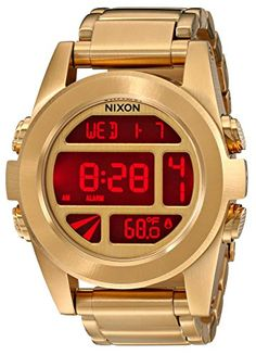 Men's Wrist Watches - Nixon Unisex The Unit SS All Gold Watch One Size -- Find out more about the great product at the image link. (This is an Amazon affiliate link)