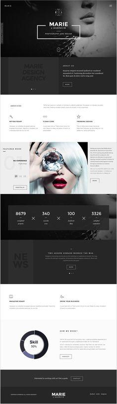 Marie - Creative Agency Portfolio Template