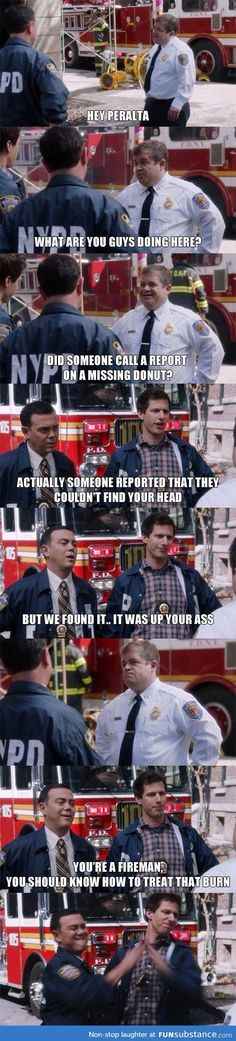 Brooklyn Nine Nine funny pictures - funny photos - funny images - funny pics - funny quotes - Brooklyn Nine Nine Funny, Brooklyn 9 9, Tv Quotes, Movie Quotes, Life Quotes, Humor Quotes, Funny Love, The Funny, Funny Images