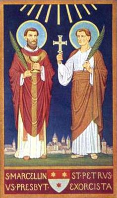 On June the Catholic Church remembers two fourth-century martyrs, Saints Marcellinus and Peter, who were highly venerated after the discovery of their tomb and the conversion of their. Catholic News, Catholic Saints, Today's Saint, The Risen, Pray For Us, Important Dates, Large Painting, Christianity, Rome
