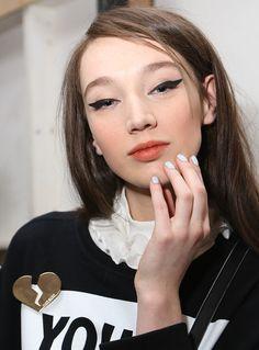 The face: Make up at Karen Walker FW 14