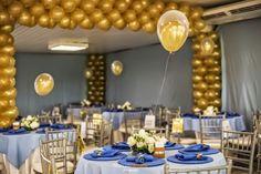 festas dourados e branco e azul - Pesquisa Google